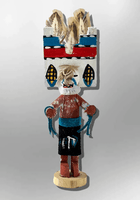Navajo Handmade Painted Aspen Wood 3'' Inch Santo Domingo Kachina Doll - Kachina City