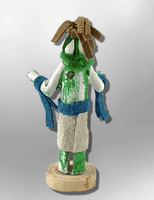 Navajo Handmade Painted Aspen Wood 3'' Inch Squash Kachina Doll - Kachina City