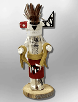 Navajo Handmade Painted Aspen Wood 3'' Inch Zuni Rain Priest Kachina Doll - Kachina City