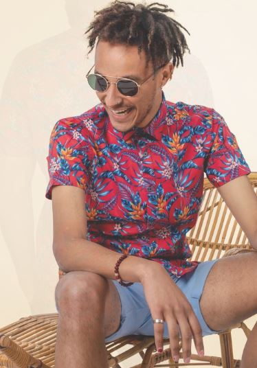 Chambers Hawaii Floral S/S Shirt- JHS226