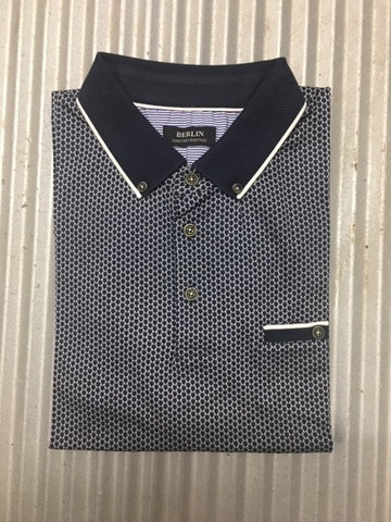 K326 MENS HOUNDSTOOTH POLO