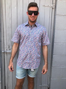 MENS S/S KALEIDESCOPE PRINT SHIRT