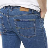 R059270475 STRAIGHT SLIM STONEWASH STRETCH JEANS