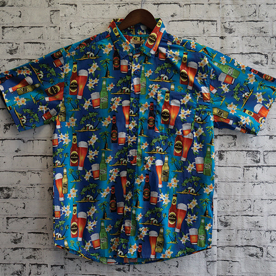 UMS-1705 MENS HAWAIAN SHIRT