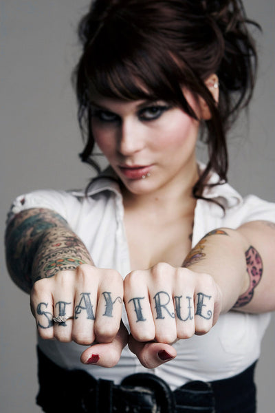 6b8271123 Collection of best stay true knuckle tattoos for men and women.