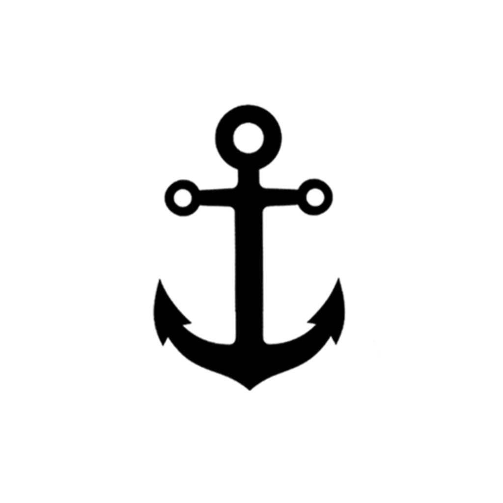 Small Anchor Tattoo Designs Simple: Anchor Temporary Tattoo (Set Of 2)