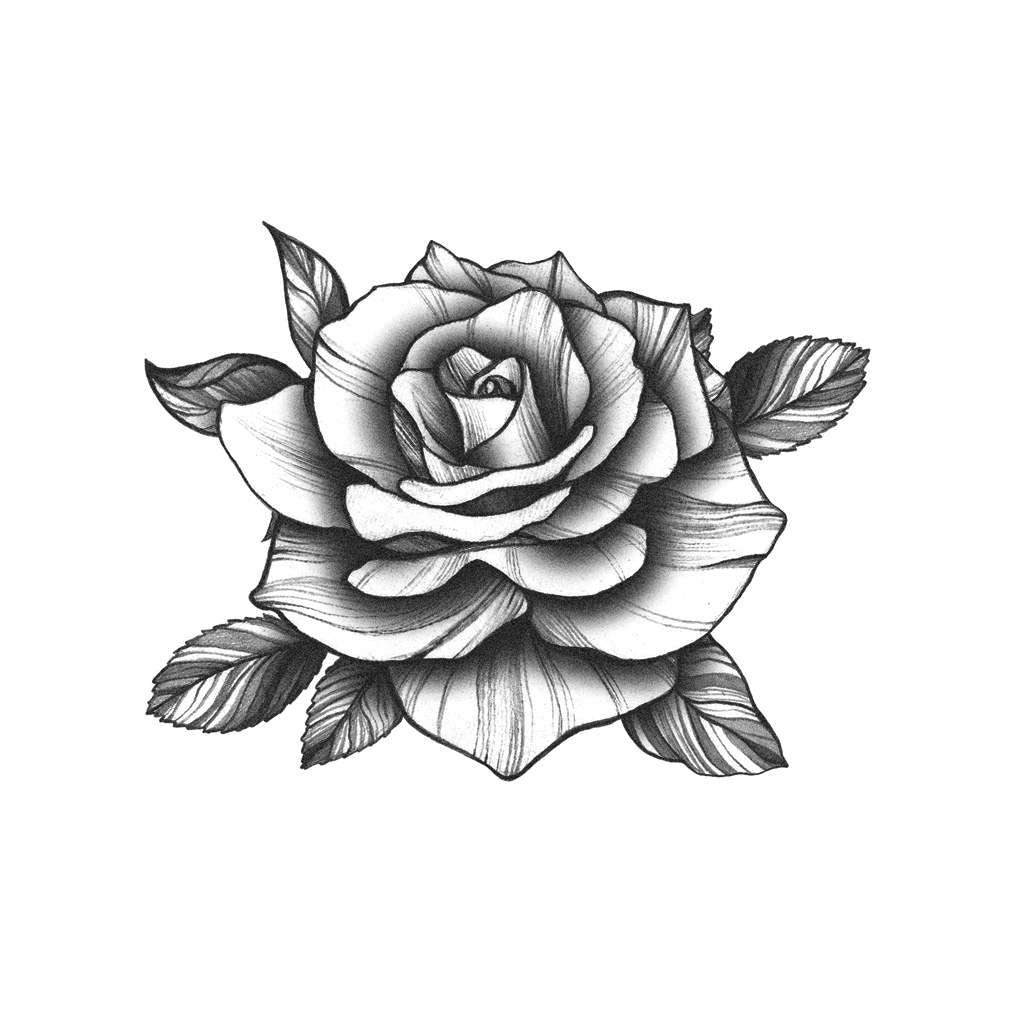 Black Rose Tattoo Icon