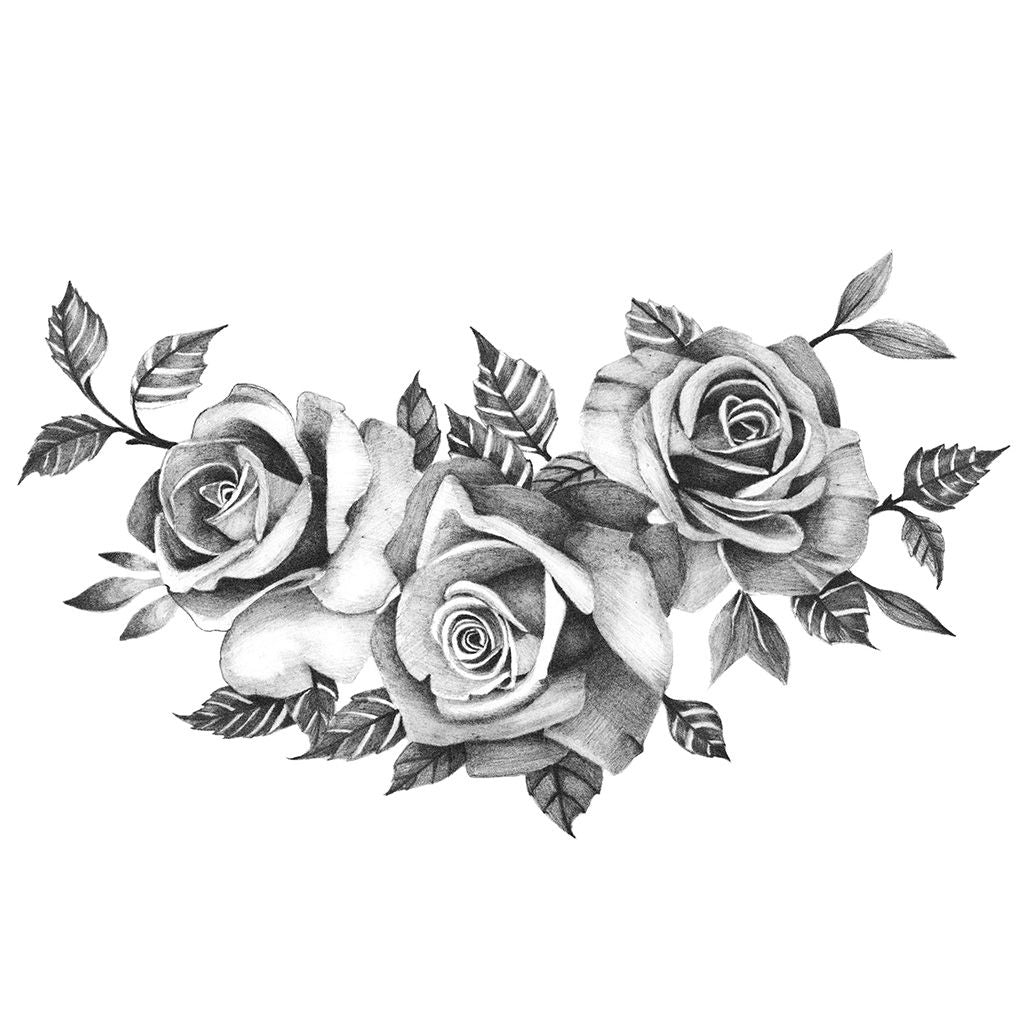 three roses temporary tattoo