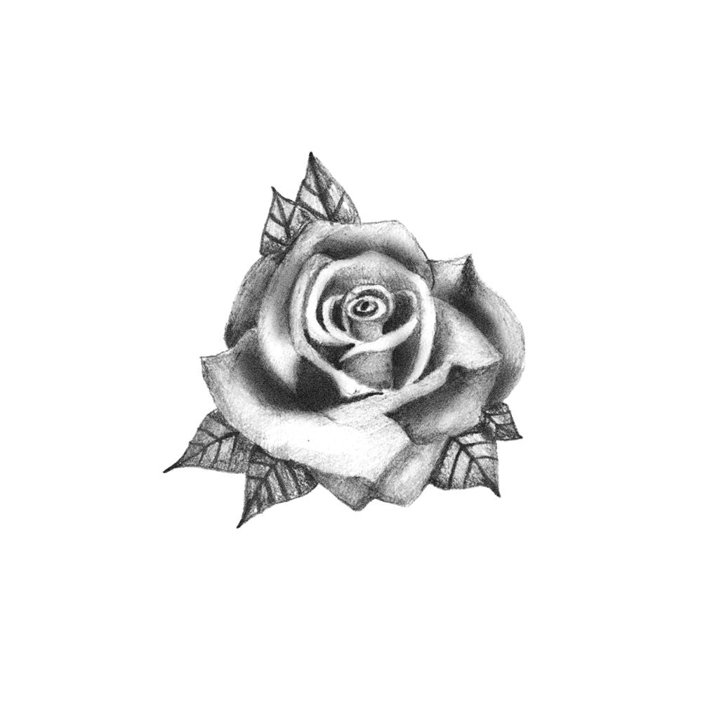 rose hand temporary tattoo