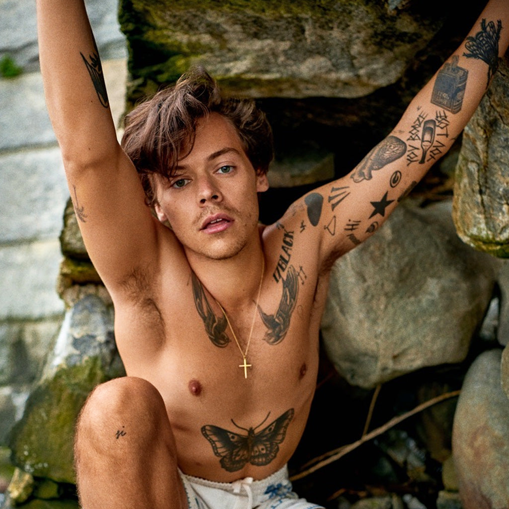 harry styles fake tattoos