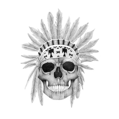 dead indian temporary tattoo