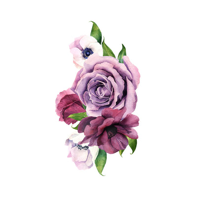 violet watercolor roses