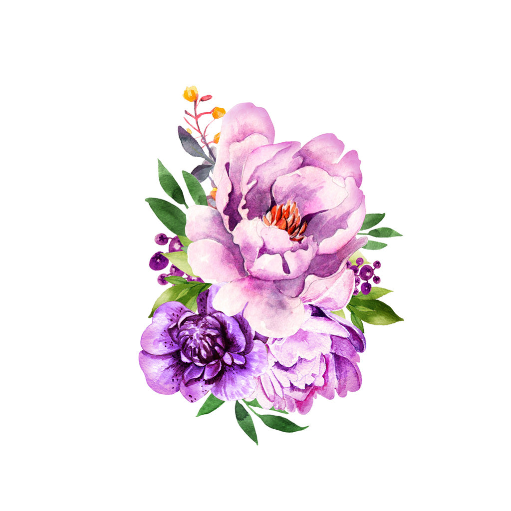 Peony Watercolor Flower Tattoos: Watercolor Bouquet