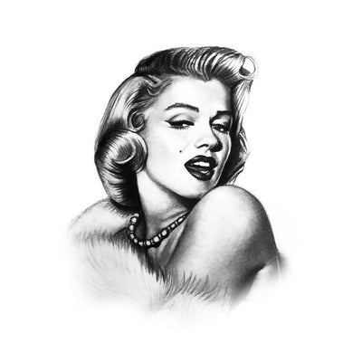 marylin monroe temporary tattoo