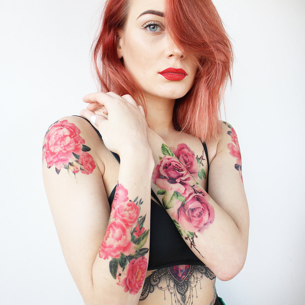 girl with watercolor tattoos