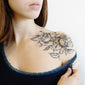 flower tattoo collarbone