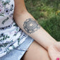 beautiful flower mandala tattoo forearm