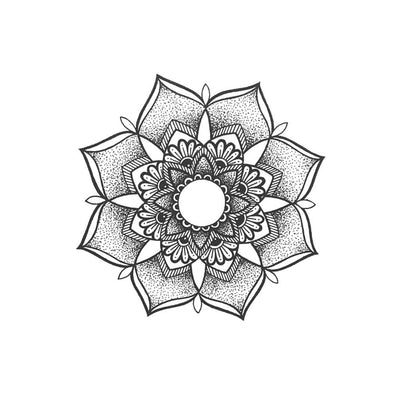 flower mandala temporary tattoo