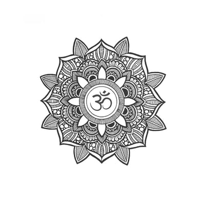 mandala om temporary tattoo