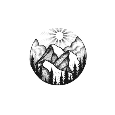 serene mountain tattoo