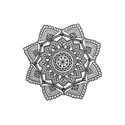 mandala temporary tattoo design