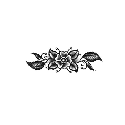 blackwork floral ornament