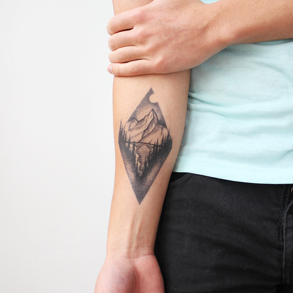 mountain lake tattoo