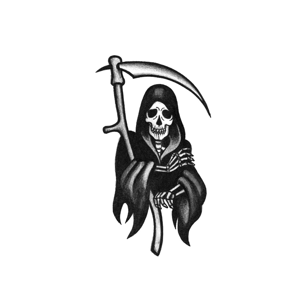 blackwork grim reaper