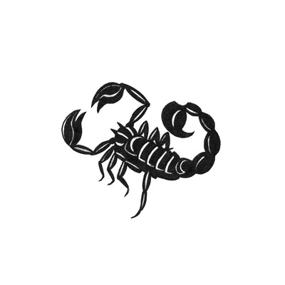 blackwork scorpion tattoo