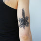 dagger and rose temporary tattoo
