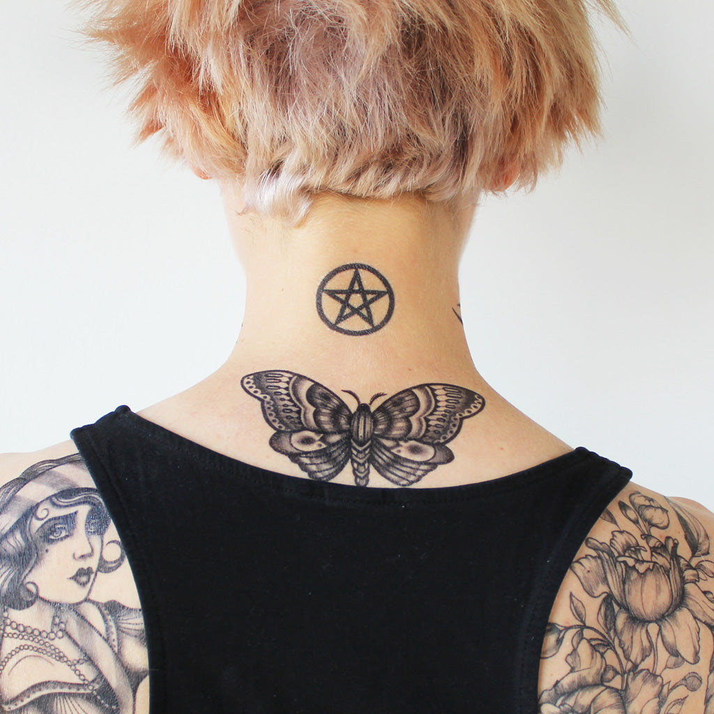 pentagram temporary tattoo