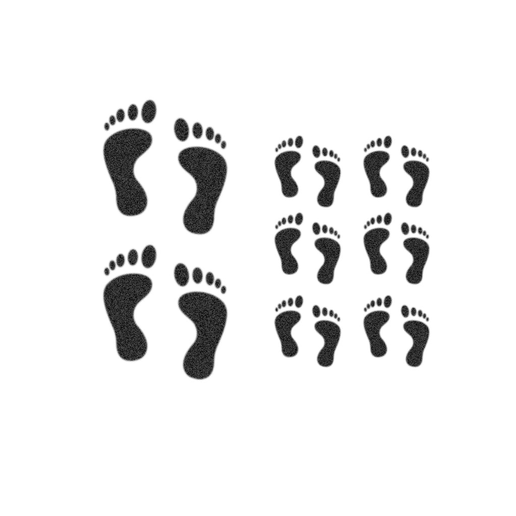 Feet Track Tattoo (Set of 16)