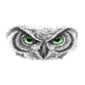 owl eyes tattoo design