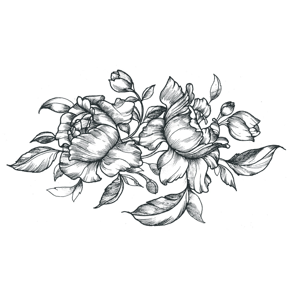 roses temporary tattoo design