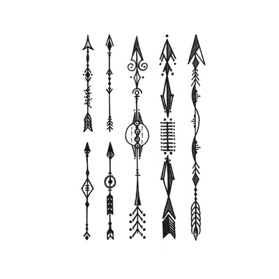 bohemian arrows tattoo design