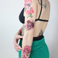 watercolor roses temporary tattoo