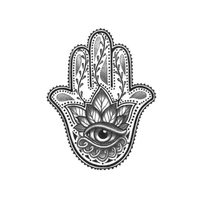 hamsa temporary tattoo design