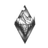 mountain tattoo design