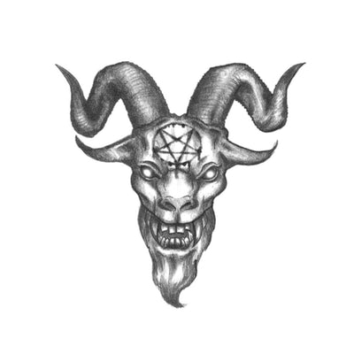 goat demon head tattoo