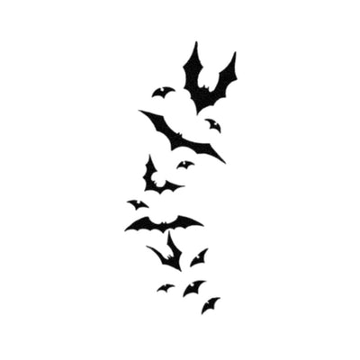 flying bats tattoo