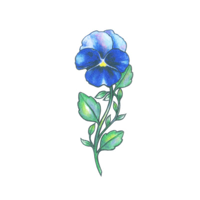 wild pansy tattoo design