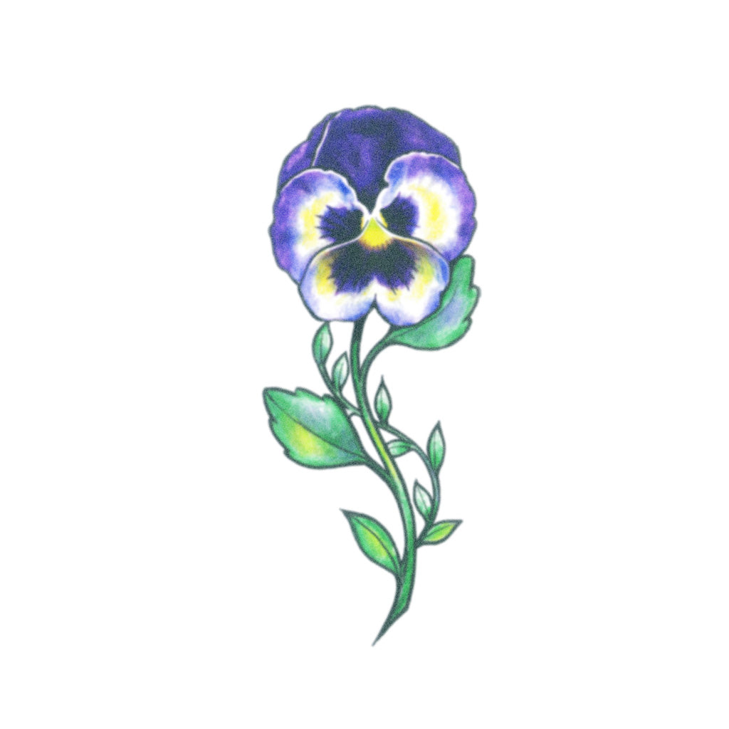 pansy tattoo design