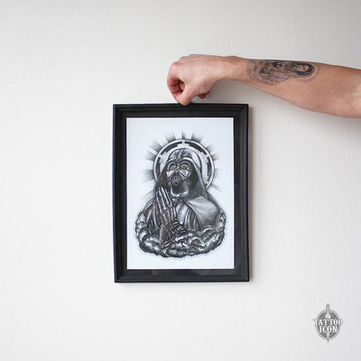 praying darth vader print