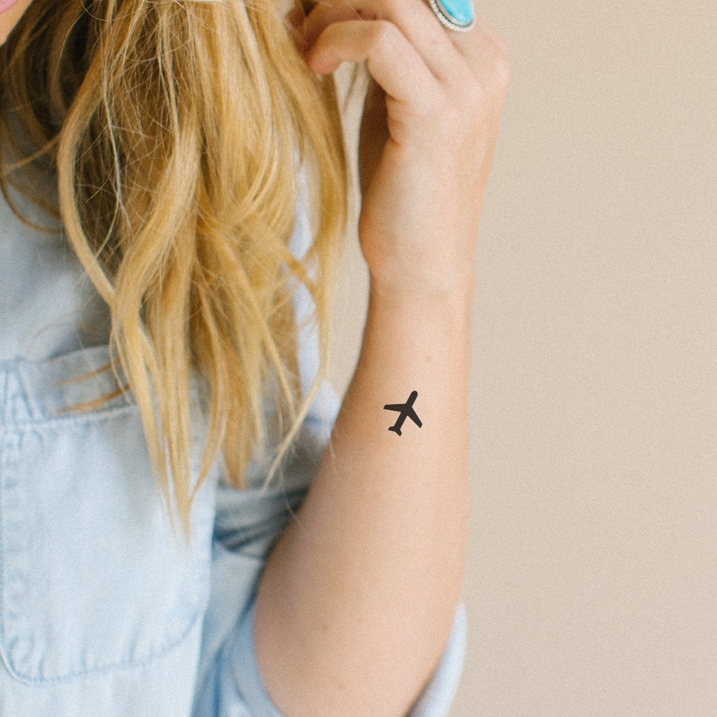 Airplane Tattoo (Set of 2)