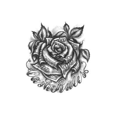 dollar rose tattoo