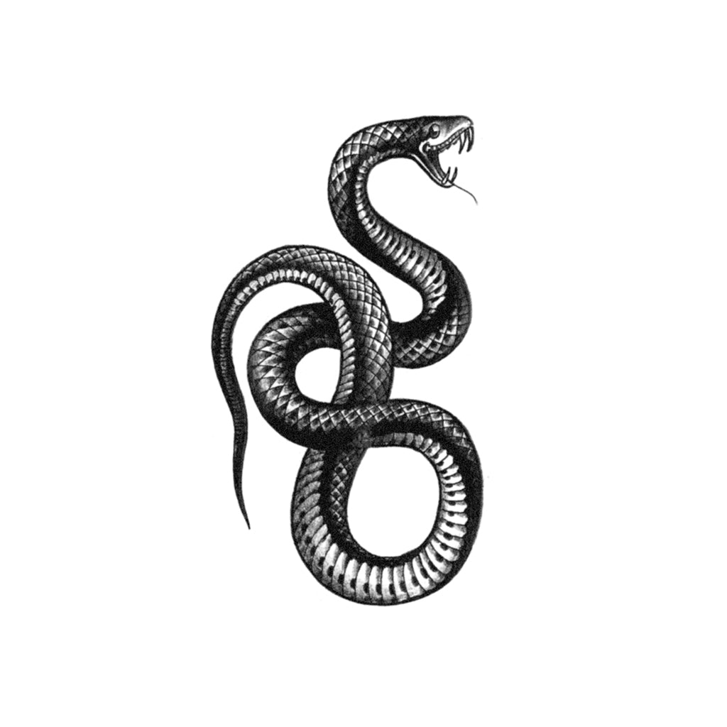 blackwork serpent tattoo
