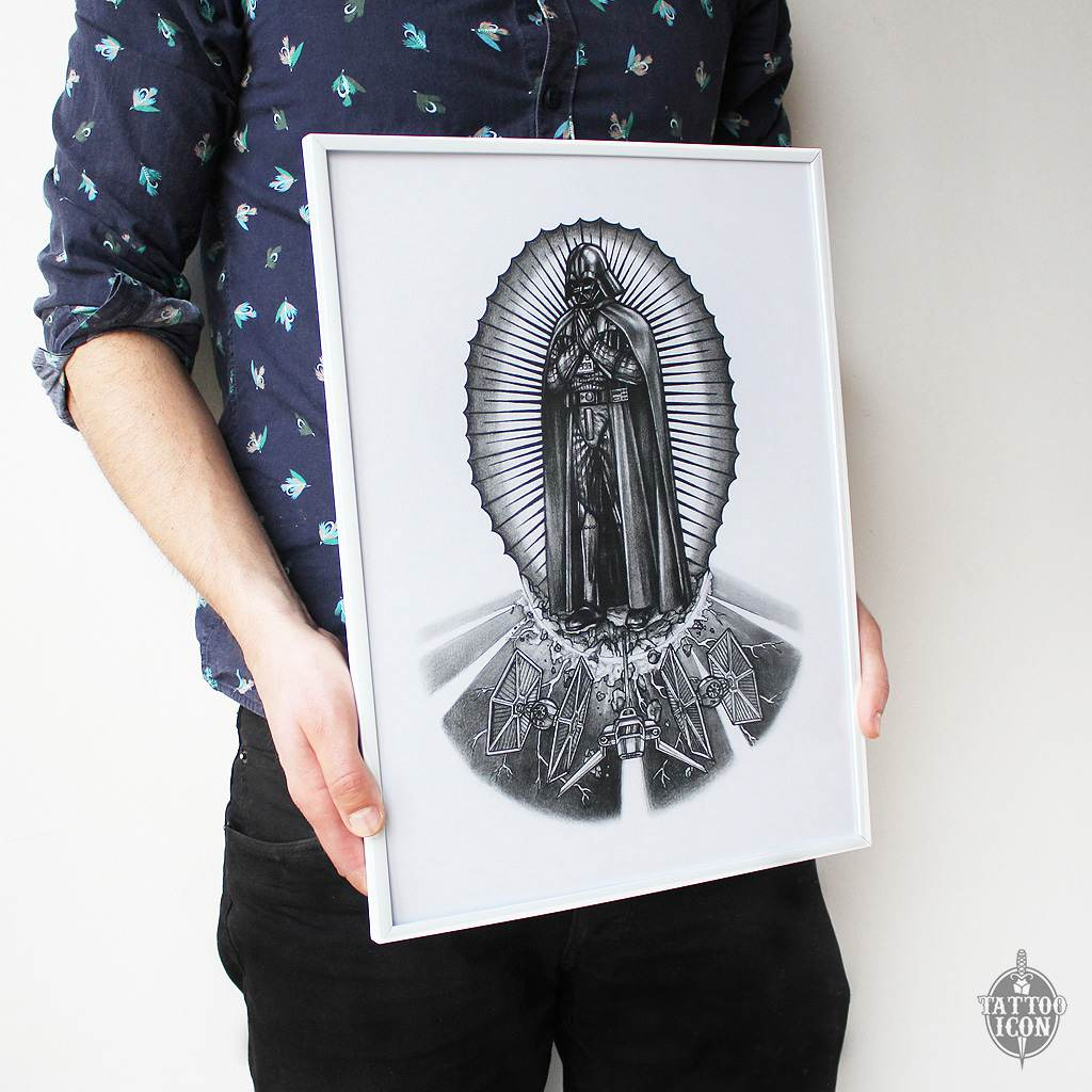 darth vader religious print