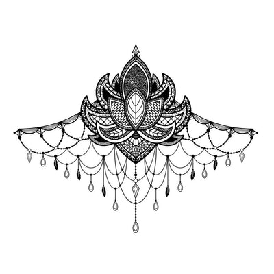 underboob temporary tattoo design
