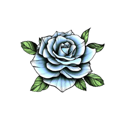 blue rose temporary tattoo