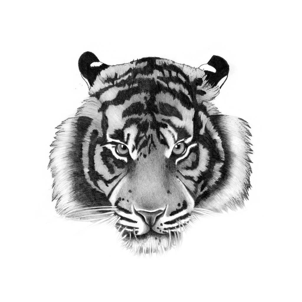 tiger temporary tattoo